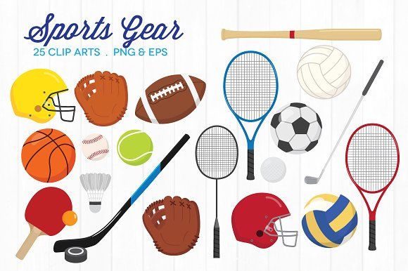Sports Equipment Clipart-Clipartlook.com-580