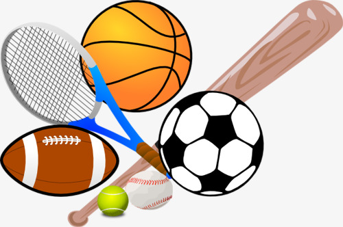 cartoon sports equipment, Cartoon Motion, Sports Equipment, Football PNG  Image and Clipart