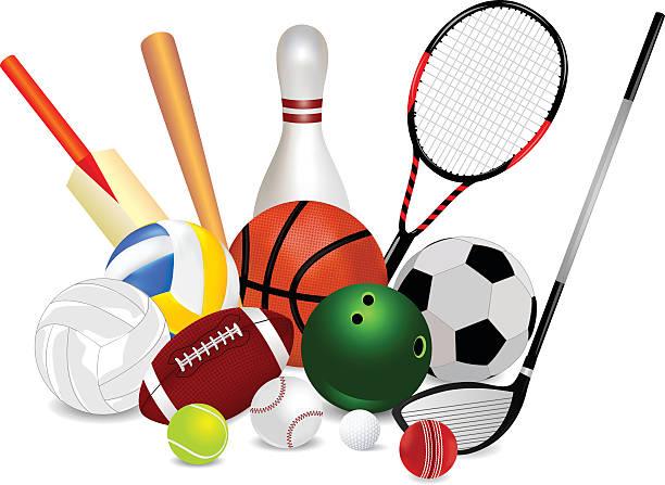 Set Of Sports Equipment Vector Art Illus-Set Of Sports Equipment vector art illustration-7