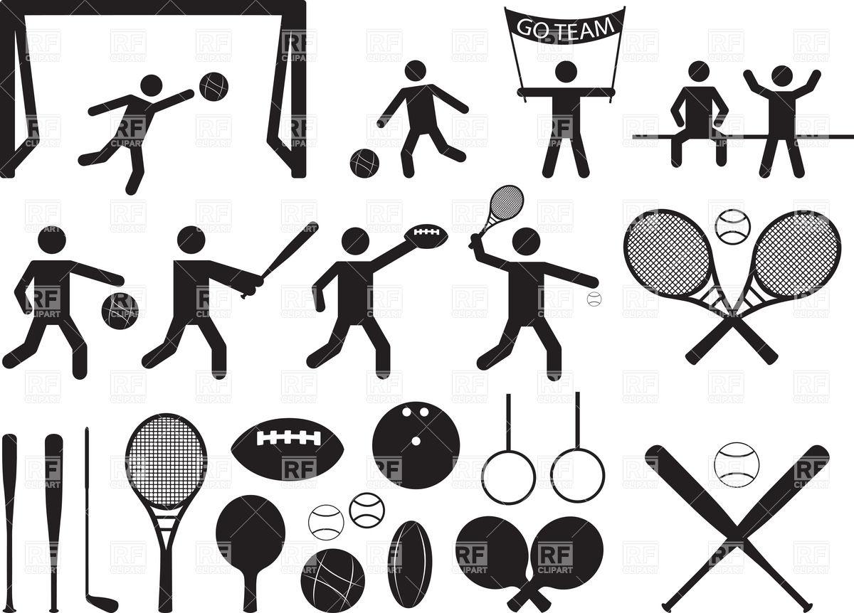 Sport Pictograms - People Sports Equipme-Sport pictograms - people sports equipment Royalty Free Vector Clip Art-9