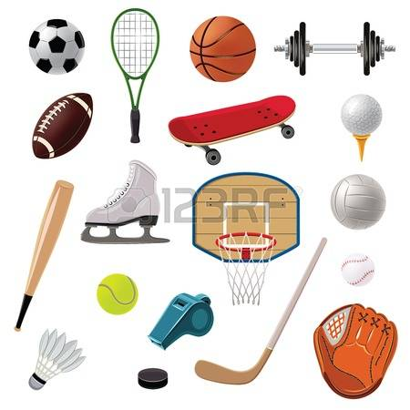 Sports Equipment Decorative Icons Set Wi-Sports equipment decorative icons set with game balls rackets and  accessories isolated vector illustration Illustration-16