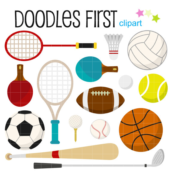 Sports Gears And Equipments Digital Clip-Sports Gears and Equipments Digital Clip Art for Scrapbooking Card Making  Cupcake Toppers Paper Crafts-20
