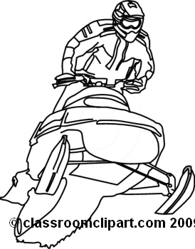 Sports Snow Mobile 709bw2 Classroom Clip-Sports Snow Mobile 709bw2 Classroom Clipart-18