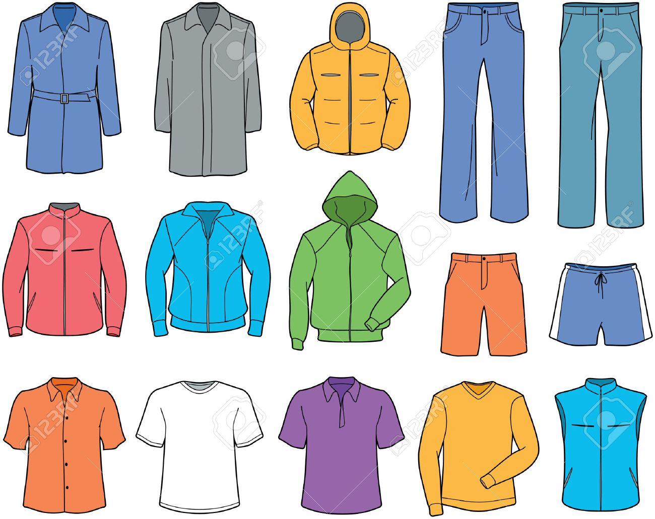 Men Casual Clothes And Sportswear Illust-Men casual clothes and sportswear illustration Stock Vector - 7309606-2