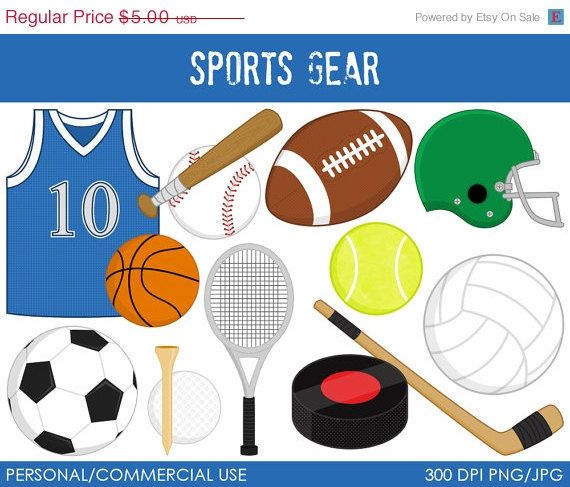 Sports Gear Clipart - Digital Clip Art G-Sports Gear Clipart - Digital Clip Art Graphics for Personal or Commercial  Use-9