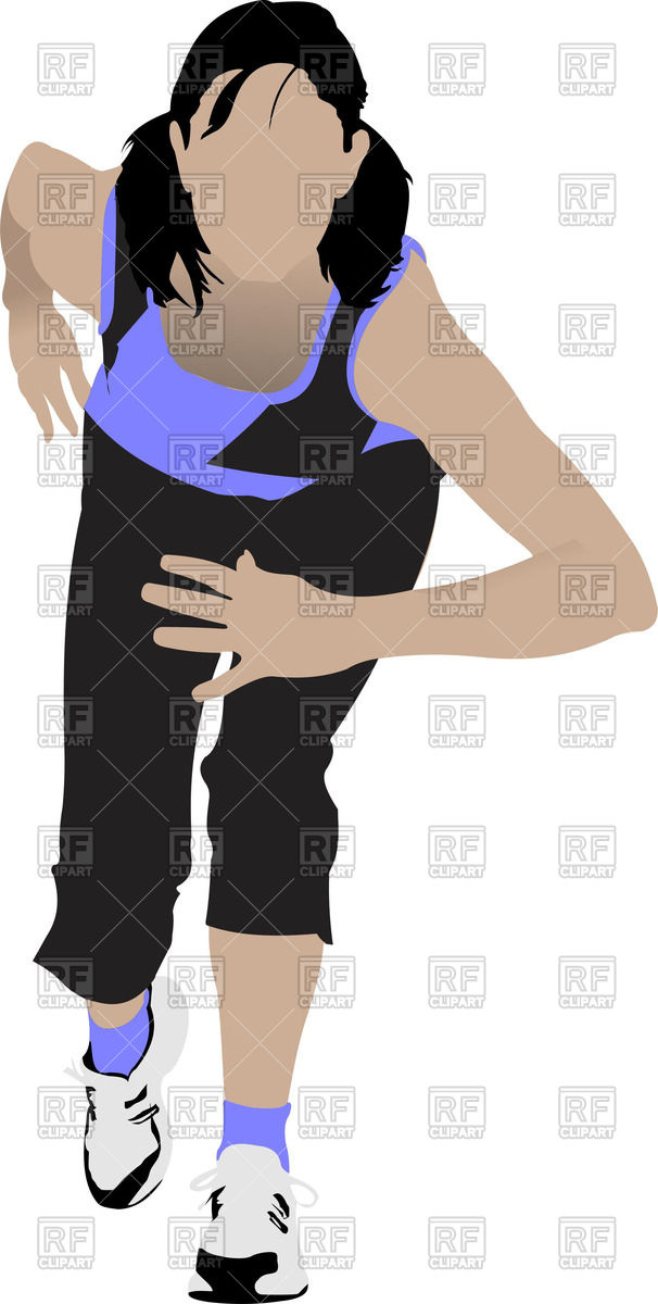 The Running Woman In Sportswear Royalty -The running woman in sportswear Royalty Free Vector Clip Art-17