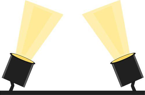 Spotlight vector. Clip art clipartlook