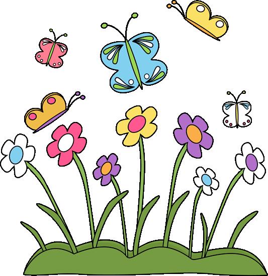 spring flower border clipart-spring flower border clipart-6