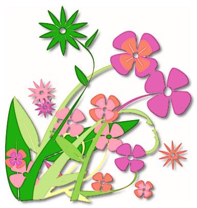 spring flowers border clipart - Spring Flowers Clip Art Free