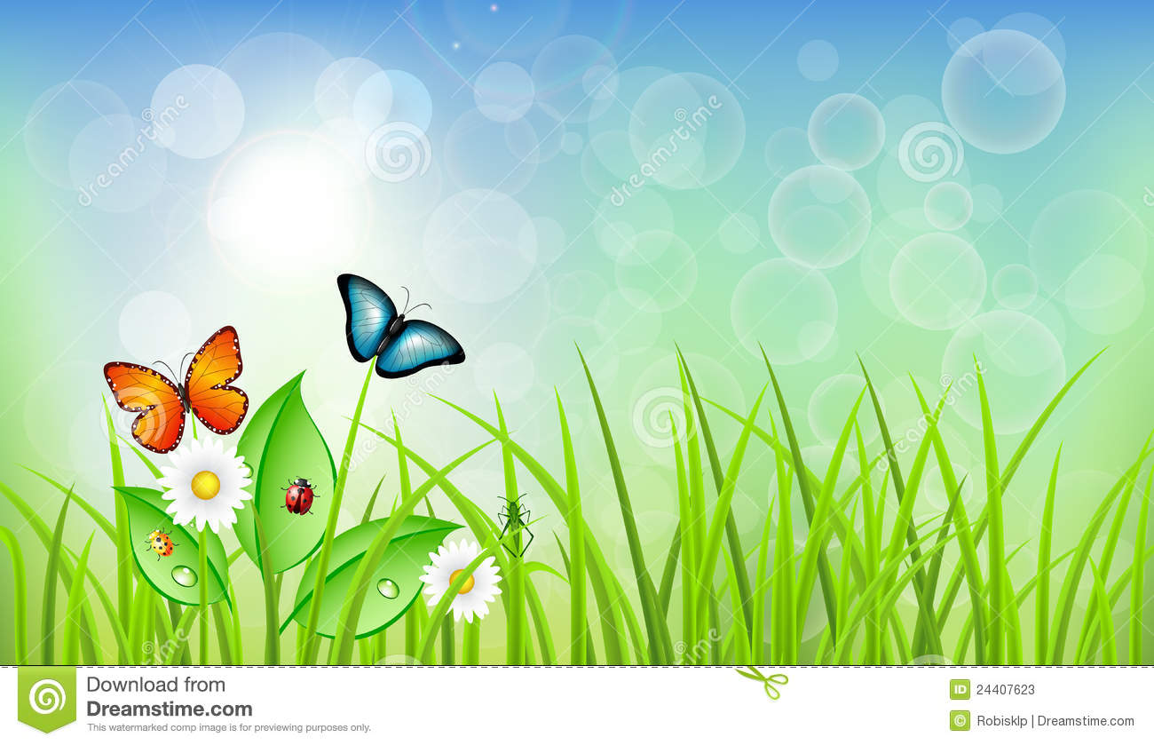 Spring Background Clipart Spring Background With Grass