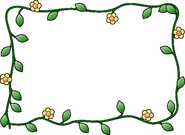 Spring Border Clip Art .