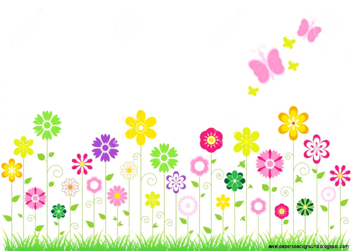 Spring Butterflies clip art . abstract background with .