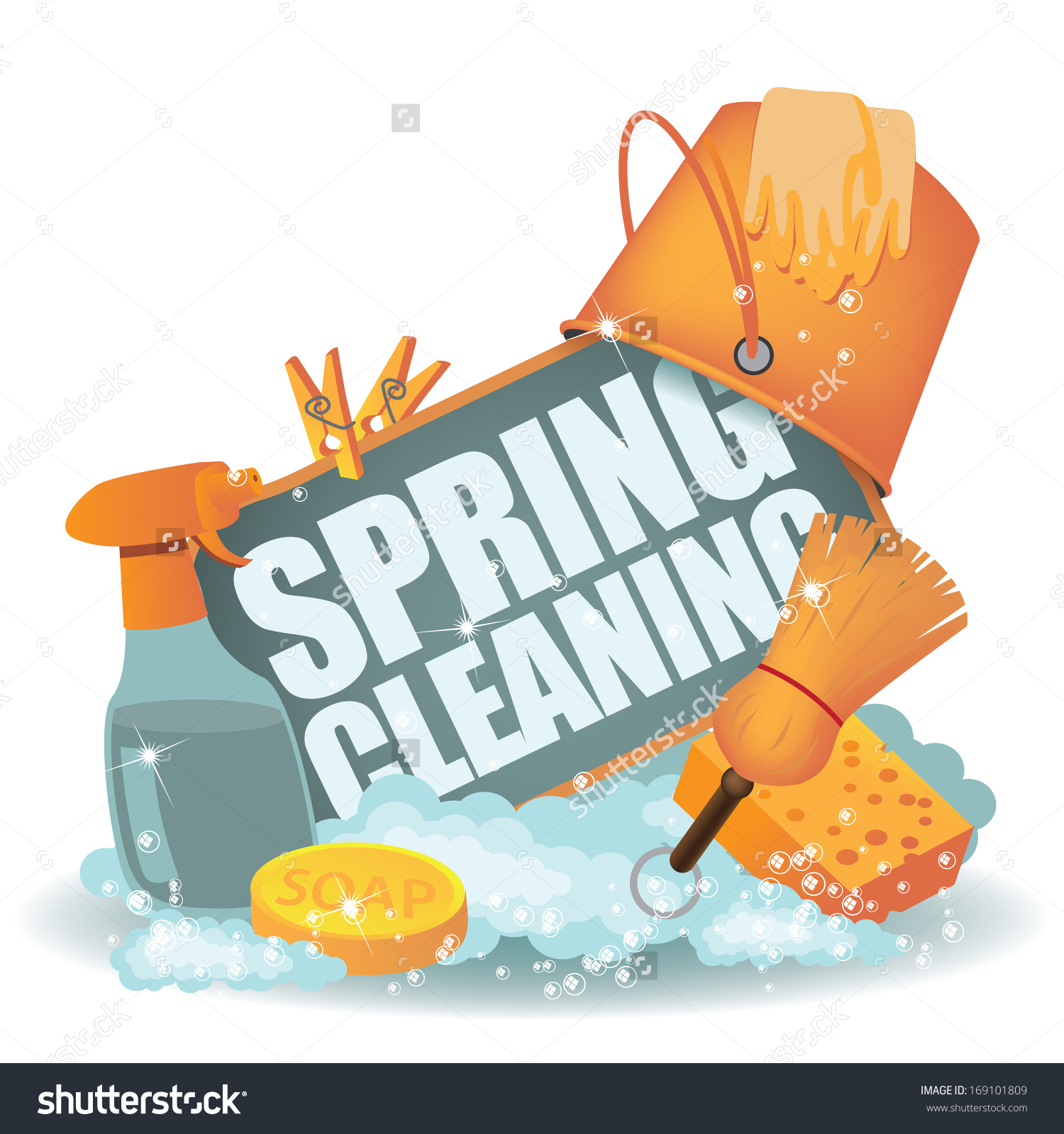 Spring Cleaning Icon. EPS 10 vector, grouped for easy editing. No open shapes