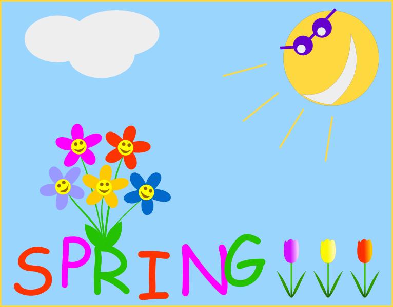 Spring Clip Art Nature .-Spring Clip Art Nature .-18