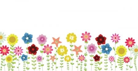 Spring Clip Art. Spring Flowers Backgrou-Spring Clip Art. Spring Flowers Background .-11