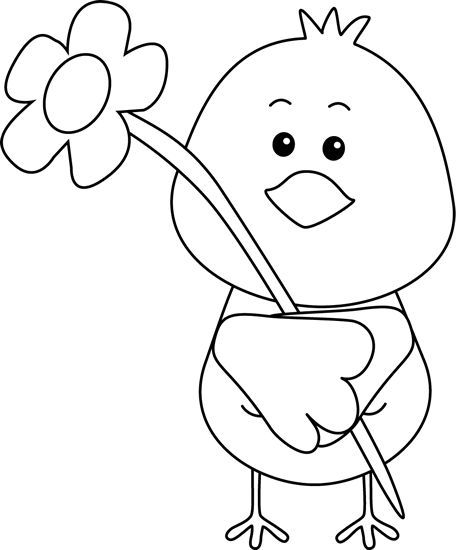 spring clipart black and white-spring clipart black and white-3
