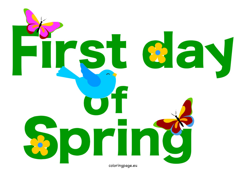 ... Spring Clipart; First Day Of Sprint -... Spring Clipart; First day of sprint clipart ...-17