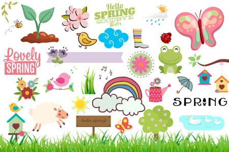 Spring Clipart (100  pieces)