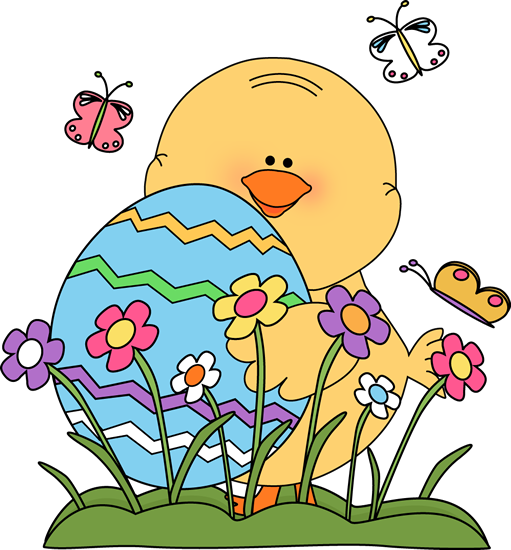 Spring Easter Chick Clip Art - Spring Easter Chick Image