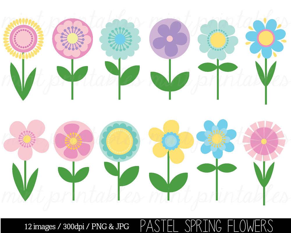 spring flower clip art - Spring Flowers Clip Art Free