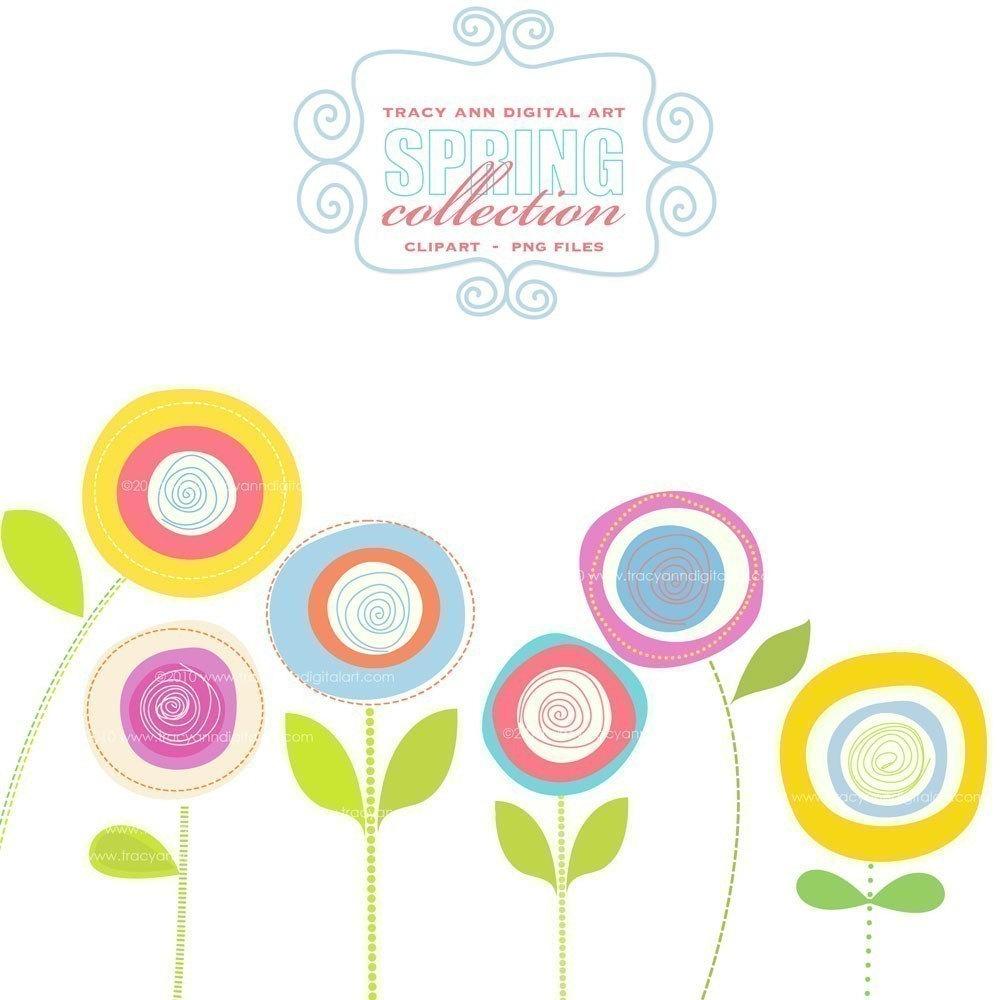 Spring Flower Clipart; CLIP . - Spring Flowers Clip Art Free