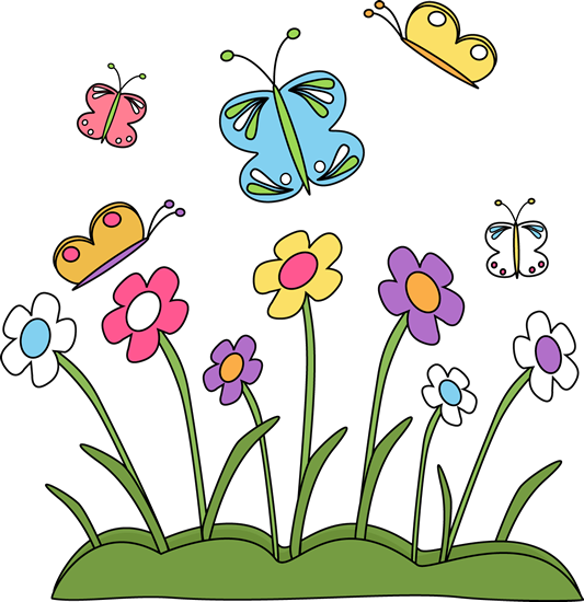 Spring Flowers and Butterflies