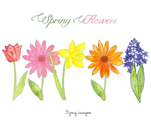 Spring flowers border clipart ... 389ad96169042f16084e7e9824e5f9 .