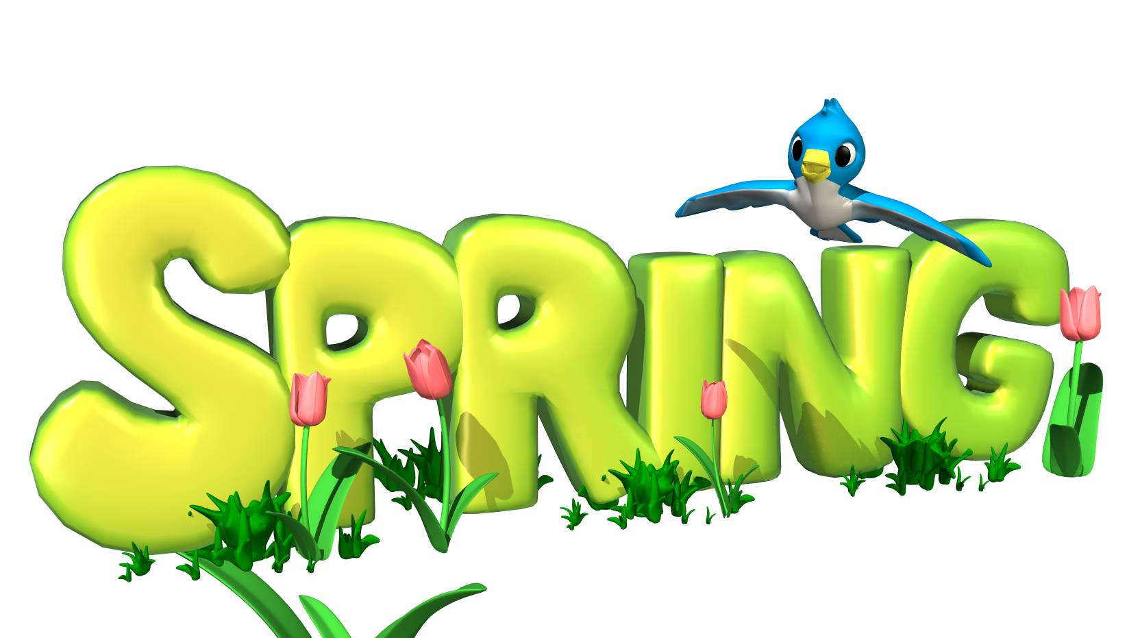 Spring flowers border clipart .