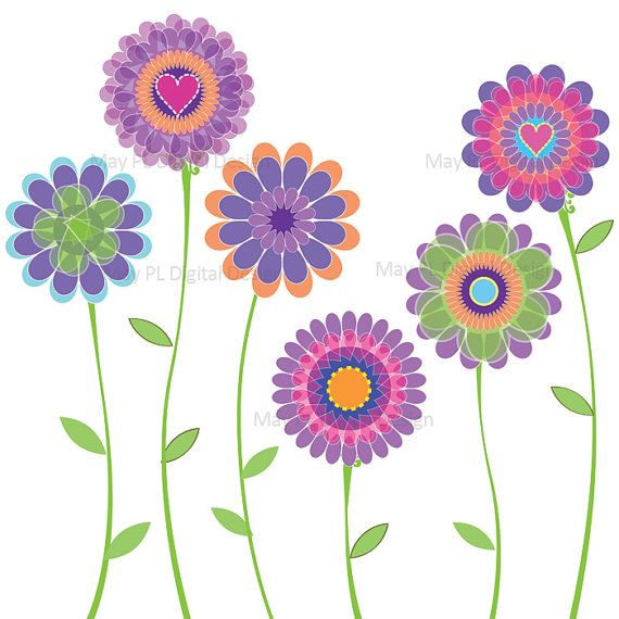 Spring flowers clip art 5 - Spring Flowers Clip Art Free