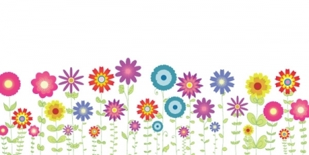 Spring flowers clip art background - ClipartFest