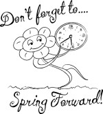 Spring Forward Clip Art Black .