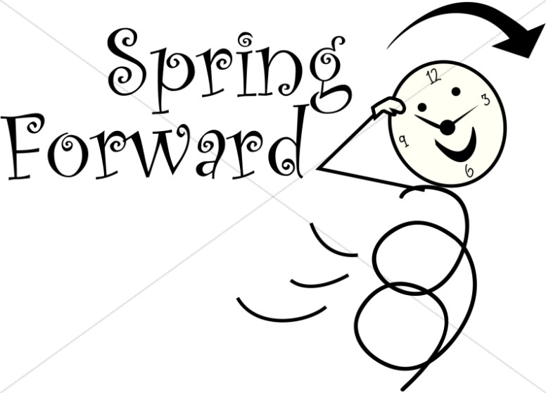 Spring Forward Daylight Savings Stick Figure