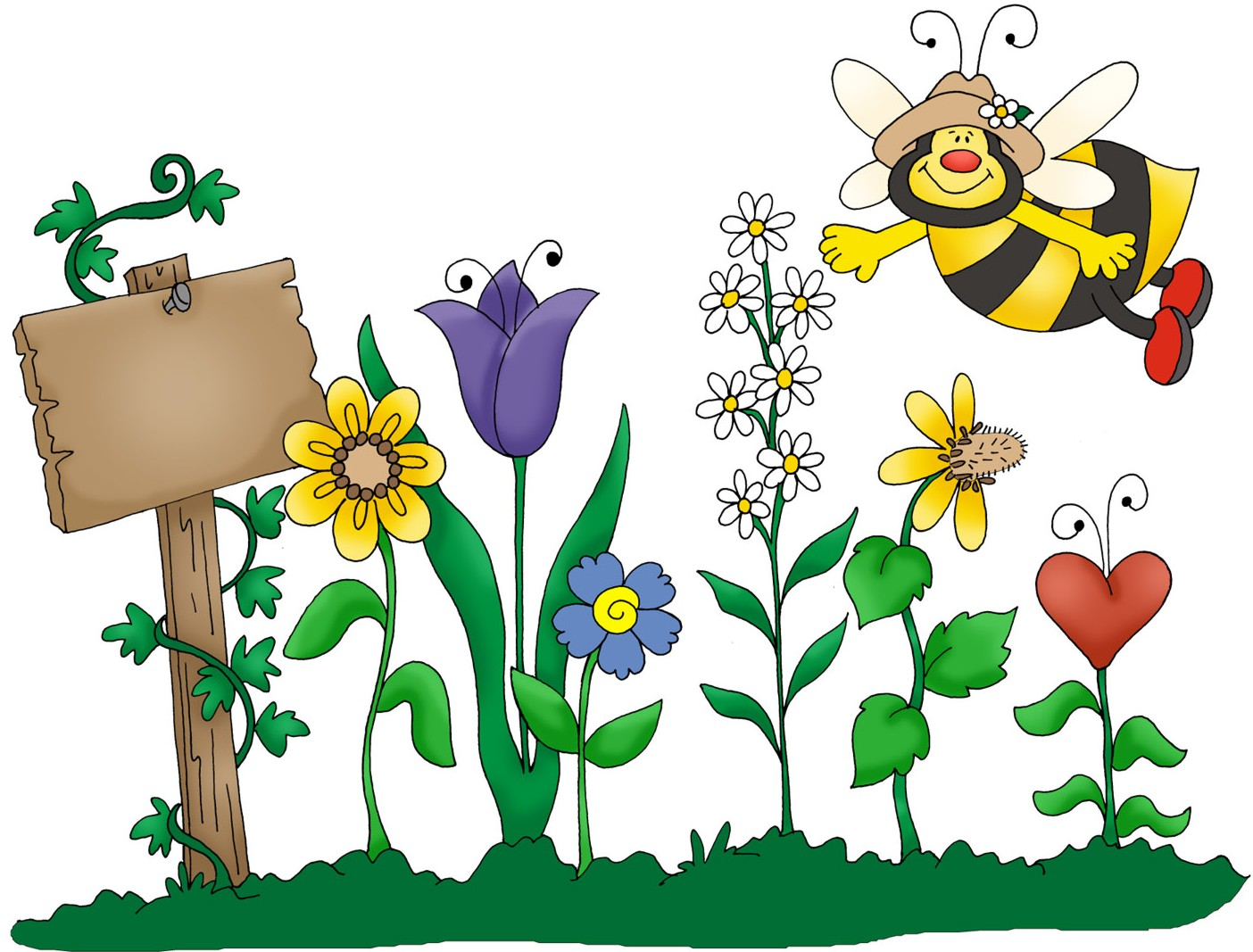 Spring garden clipart free clipart image the cliparts