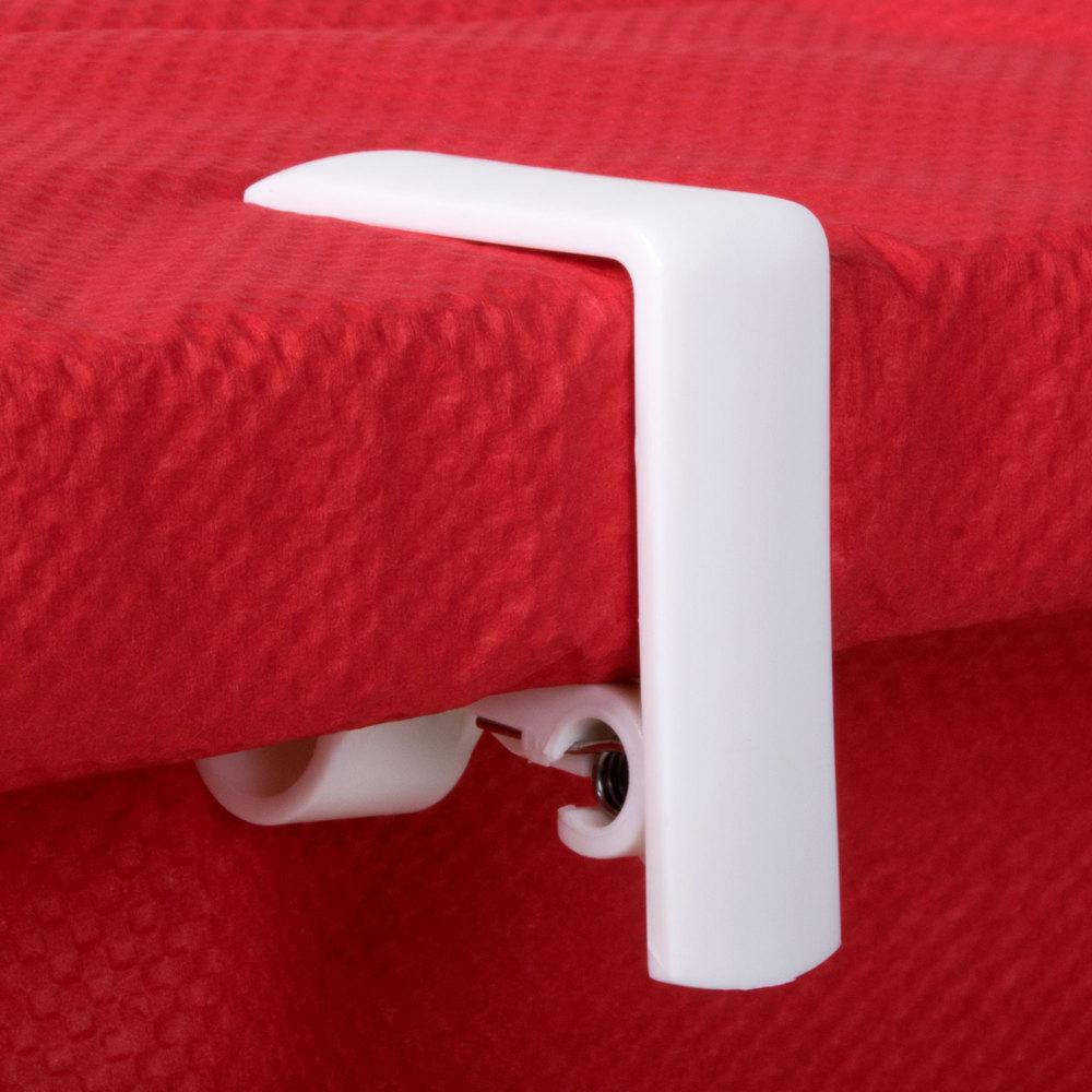 Spring Loaded Adjustable Plastic Tablecloth Clip - 4/Pack
