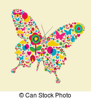 Spring time butterfly - Happy spring time butterfly... Spring time butterfly Clip Artby ...