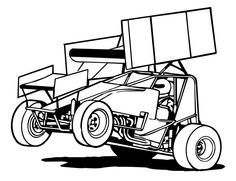 sprint car clipart - Google z - Sprint Car Clip Art