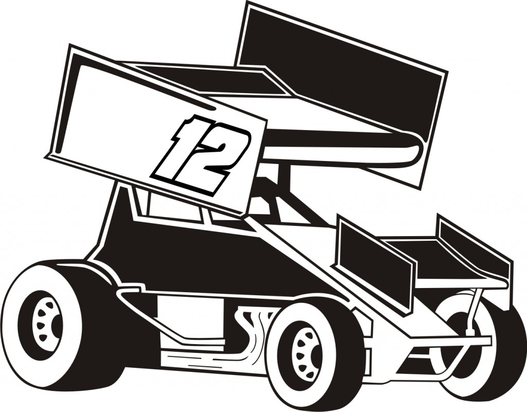 Sprint Car Coloring Pages .
