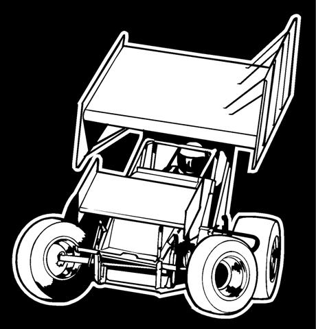 Sprint Car Front View 3 .