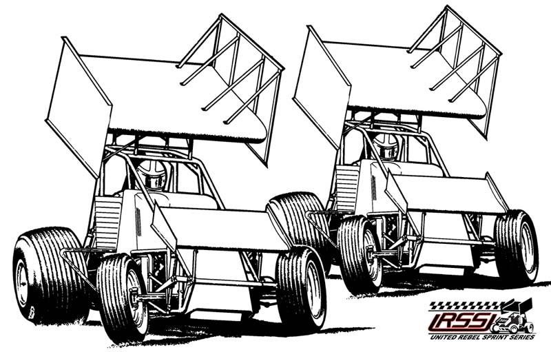 Sprint Car Racing Clipart