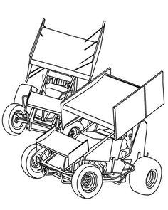 Sprint cars #6 - Sprint Car Clip Art