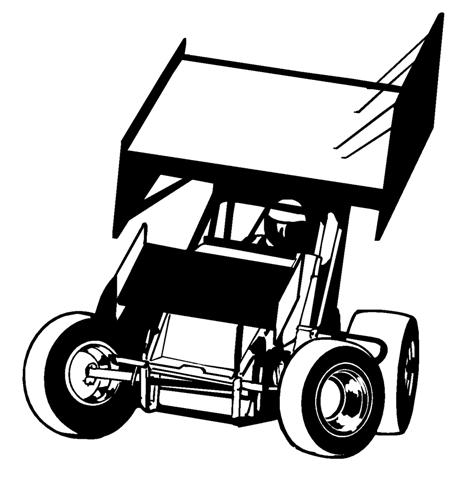 96 Sprint Car Clip Art Clipartlook