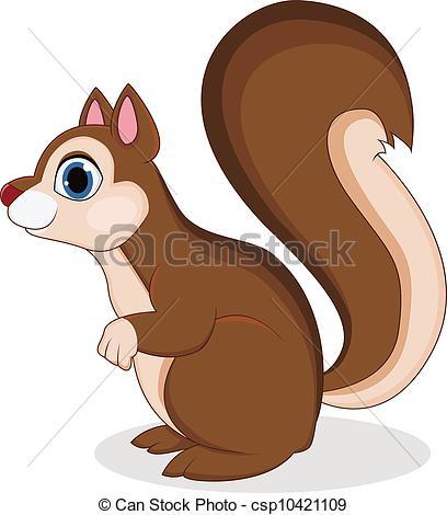 ... Squirrel cartoon - vector illustration of Squirrel cartoon