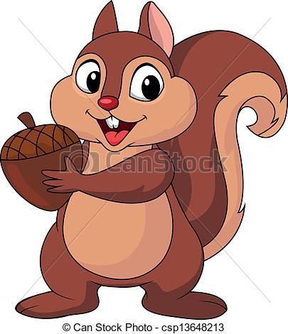 ... Squirrel cartoon with nut - Vector illustration of Squirrel... Squirrel cartoon with nut Clipartby ...