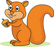 Squirrel Clipart Size: 97 Kb