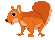 Squirrel On All Four Paws Clipart Size: 101 Kb