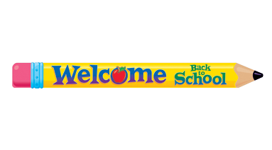 Pencil back to school. Welcome clipart clipartlook