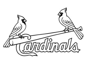 St. Louis Cardinals logo decal .