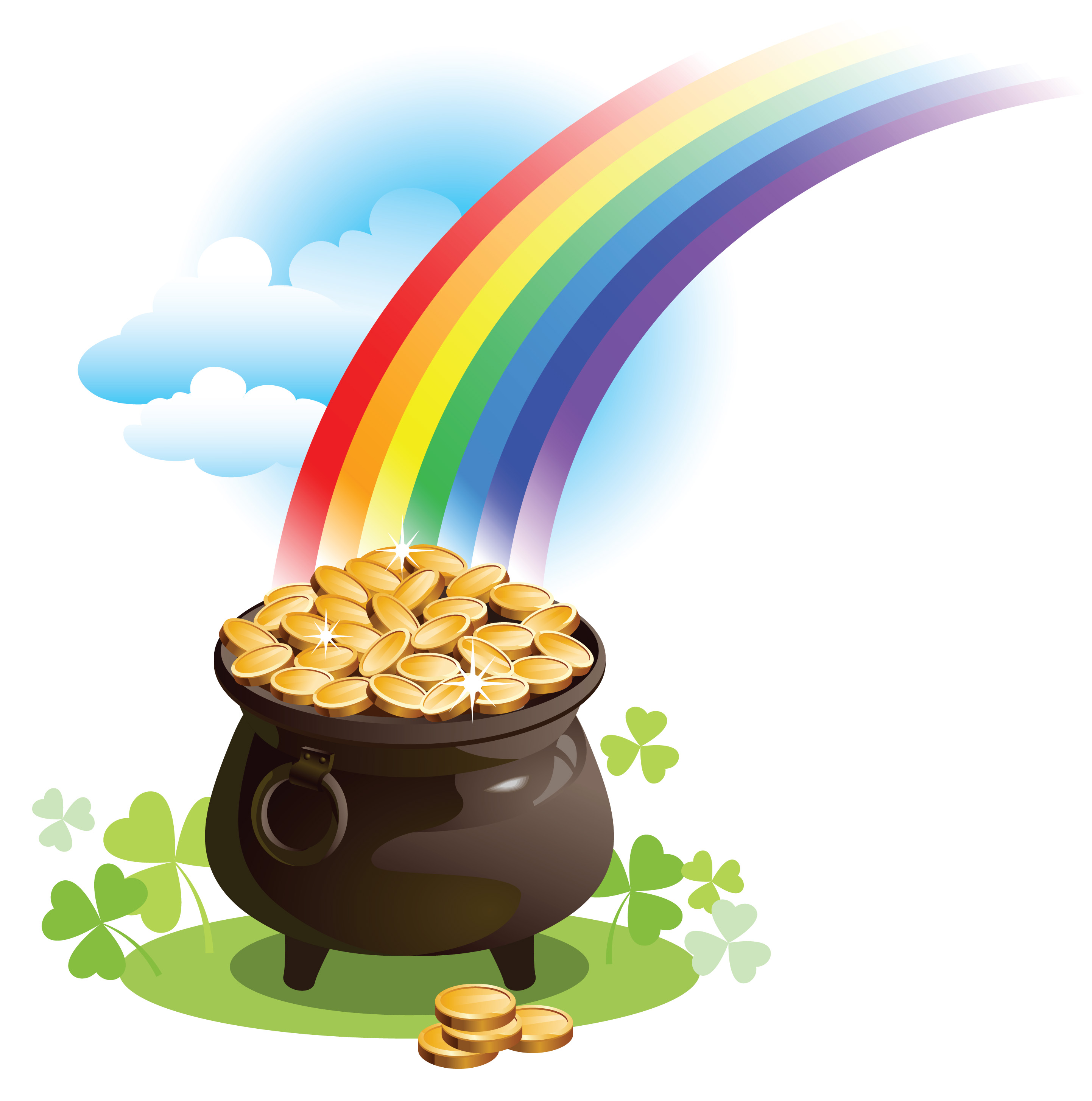 St patricks pot of gold clipart clipartall 2