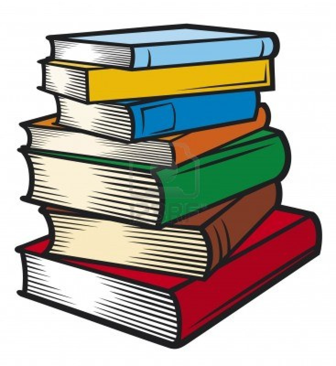 stack of books clipart - Stacked Books Clipart
