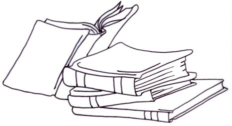Stack of books catalog books clipart kid